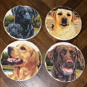 Dog Tumbled Stone Coasters